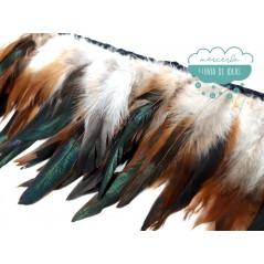 Fleco de plumas de gallo