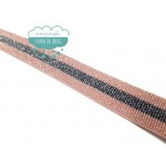 Goma elástica de rayas 40 mm. - Serie Naima