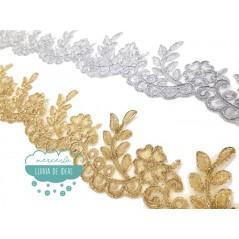 Pasamanería bordada metalizada - Serie Nora