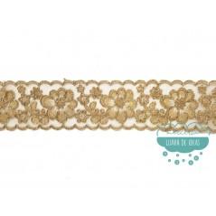 Pasamanería bordada dorada - Serie Vera
