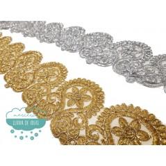 Pasamanería bordada metalizada - Serie Rocío