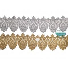 Pasamanería bordada metalizada - Serie Marta
