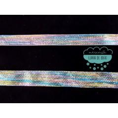 Cinta lamé de lúrex multicolor - Varias medidas