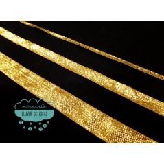 Cinta lamé de lúrex dorada - Varias medidas