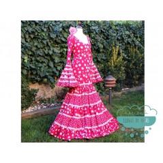 Patrones de mujer - Vestido de flamenca canastero