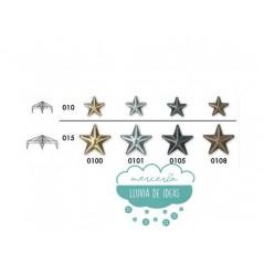 Tachas de estrellas con garras - Color plata pavonado