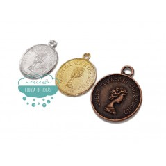 Monedas metálicas sueltas para colgar - Serie Elizabeth