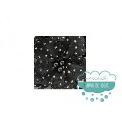 Aplicación bordada de flores con perlas y lentejuelas -  Serie Fátima