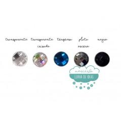 Piedra acrílica redonda cristal Ø 12 mm. - Varios colores