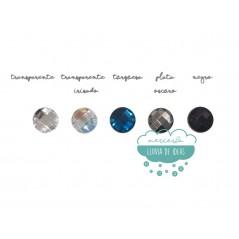 Piedra acrílica redonda cristal Ø 20 mm. - Varios colores