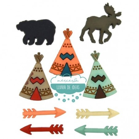 Botones decorativos - Tipis - Dress It Up