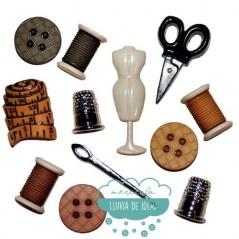 "Botones decorativos - Costura ""Sewing room"" - Dress It Up"