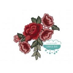 Aplicación bordada - Serie Cinco Rosas