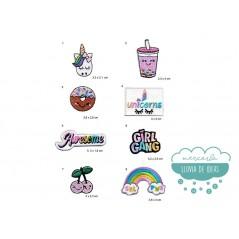 Parches bordados termoadhesivos - Unicornios Candy