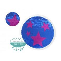 Aplicación lentejuelas reversibles - Círculo con estrellas