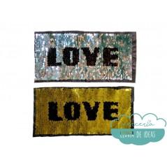 Aplicación lentejuelas reversibles - Serie Love