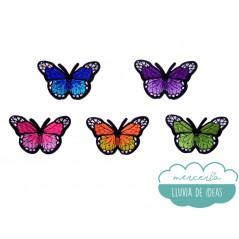 Parches bordados termoadhesivos - Mariposas