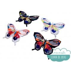 Aplicación bordada - Mariposas geométricas