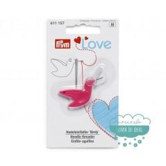 Enhebrador de agujas y cortahilos Birdy - Prym Love Colección Pink