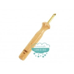 Punzón de madera (punch needle) + aguja de lana - DMC