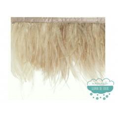 Fleco de plumas de avestruz doble (mayor espesor)