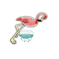 Parche bordado termoadhesivo - Serie Flamenco Ibiza