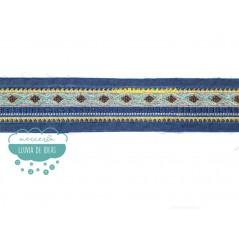 Pasamanería bordada tejana con rocalla - Serie Rombos