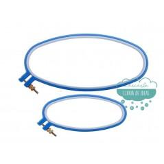 Bastidor ovalado para bordar de plástico antideslizante