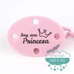 Cadena para chupete - Soy una Princesa