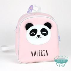 Mochila infantil personalizada - Panda color rosa