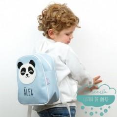 Mochila infantil personalizada - Panda color azul