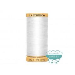 Hilo algodón 100% CNe50 250 m. - Gütermann (Blanco, negro, crudo)