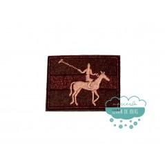Parche bordado termoadhesivo - Serie Caballo rectangular