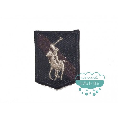 Parche bordado termoadhesivo - Serie Escudo caballo