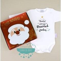 Caja regalo con Body Babidu - Nuestra primera Navidad juntos