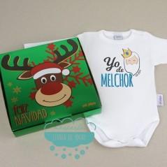 Caja regalo con Body Babidu - Yo de Melchor