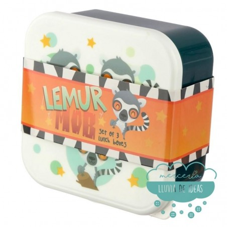 Set de 3 fiambreras - Lémur