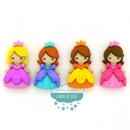 Botones decorativos - Princesas - Dress It Up