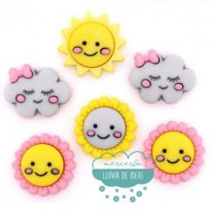 Botones decorativos - Hello Sunshine - Dress It Up