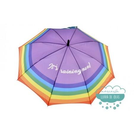 Paraguas automático arco iris - It's raining men!