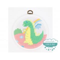 Kit de bordado de medio punto - Dragón