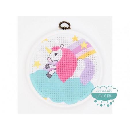 Kit de bordado de medio punto - Unicornio