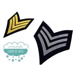 Parche bordado termoadhesivo - Serie Insignias militares grandes