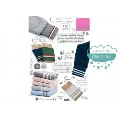 Cinta elástica de punto para puños y cinturilla - Varios colores