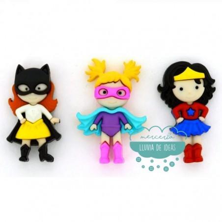 Botones decorativos - Super heroínas - Dress It Up