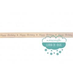Cinta decorativa estampada - Happy Birthday (Cumpleaños feliz)