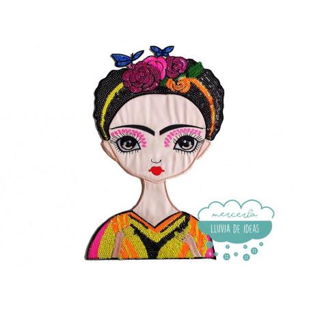 Parche Frida Kahlo Bordado Termoadhesivo - Geisha