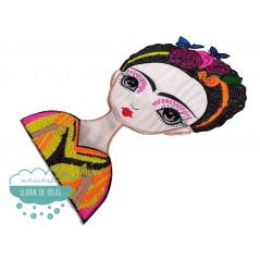 Parche Frida Kahlo Bordado Termoadhesivo con lentejuelas - Geisha