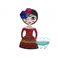 Parche Frida Kahlo Bordado Termoadhesivo con lentejuelas - Folclore
