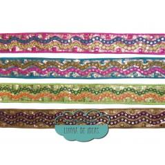 Tapacosturas bordado con lentejuelas - Serie India